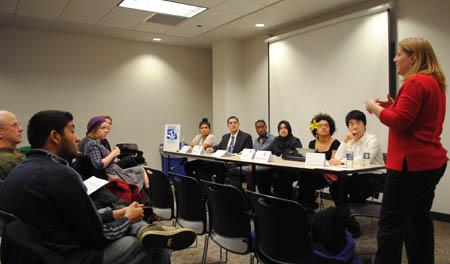 SPJ DePaul Diversity Panel Photo. (Photo by Katie Karpowicz)