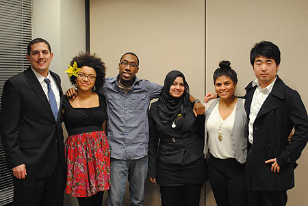 SPJ DePaul Diversity Panelists Photo. (Photo by Katie Karpowicz)