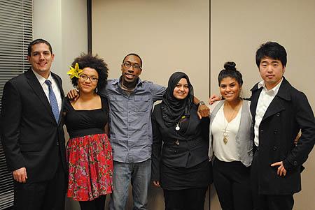 SPJ DePaul Diversity Panelists Photo. (Photo by Katie Karpowicz)