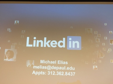 The LinkedIn Workshop was presented by Michael Elias of the Career Center. (Photos/Sadé Carpenter)