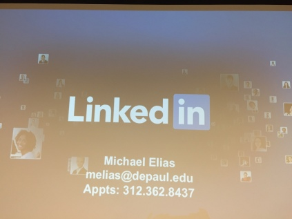 The LinkedIn Workshop was presented by Michael Elias of the Career Center. (Photos/Sadé Carpenter)