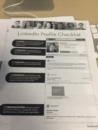 The LinkedIn Profile Checklist is a great way to make sure your profile is complete.