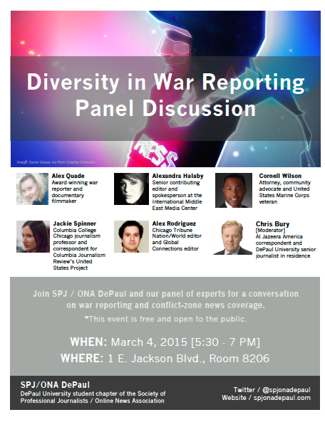 Diversity in War Reporting Flier