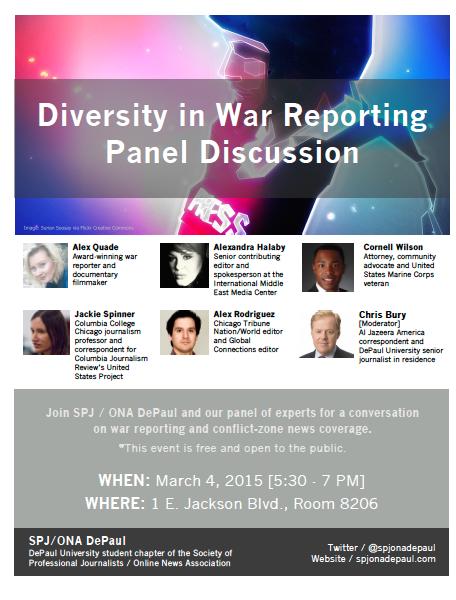 Diversity in War Reporting Flier